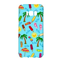 Beach Pattern Samsung Galaxy S8 Hardshell Case  by Valentinaart