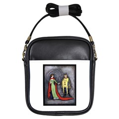 Beauty And The Beast Classic Artwork Girls Sling Bags by RoseTylersFanShop