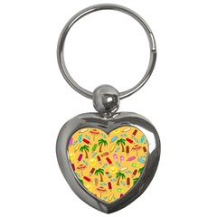 Beach Pattern Key Chains (heart)