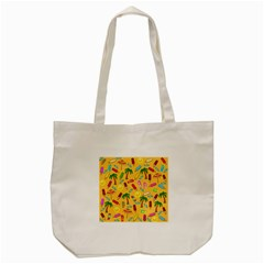Beach Pattern Tote Bag (cream)
