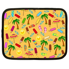 Beach Pattern Netbook Case (xxl)  by Valentinaart