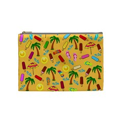 Beach Pattern Cosmetic Bag (medium)  by Valentinaart