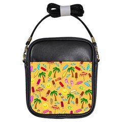 Beach Pattern Girls Sling Bags