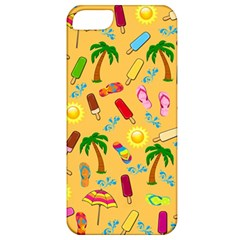 Beach Pattern Apple Iphone 5 Classic Hardshell Case by Valentinaart
