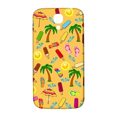 Beach Pattern Samsung Galaxy S4 I9500/i9505  Hardshell Back Case by Valentinaart