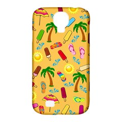Beach Pattern Samsung Galaxy S4 Classic Hardshell Case (pc+silicone) by Valentinaart