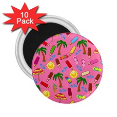 Beach Pattern 2 25  Magnets (10 Pack)