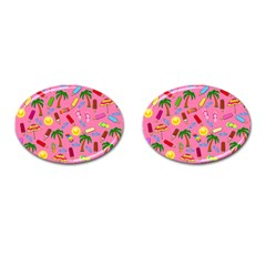 Beach Pattern Cufflinks (oval) by Valentinaart