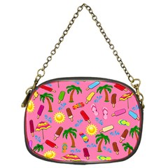 Beach Pattern Chain Purses (one Side)