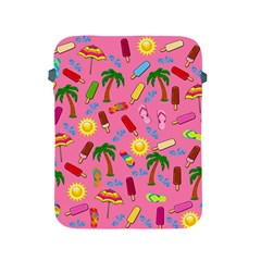 Beach Pattern Apple Ipad 2/3/4 Protective Soft Cases by Valentinaart