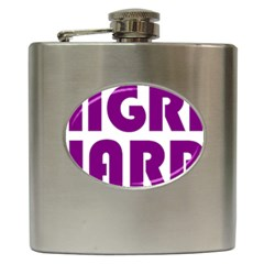 Migraine Warrior With Ribbon Hip Flask (6 Oz) by MigraineursHideout