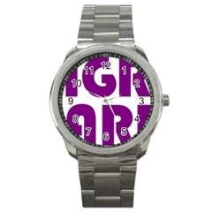 Migraine Warrior With Ribbon Sport Metal Watch by MigraineursHideout