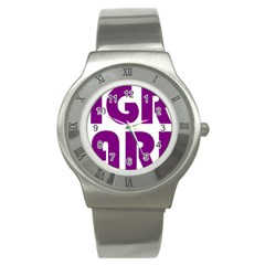 Migraine Warrior With Ribbon Stainless Steel Watch by MigraineursHideout
