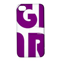 Migraine Warrior With Ribbon Apple Iphone 4/4s Hardshell Case With Stand by MigraineursHideout
