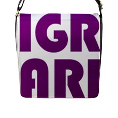 Migraine Warrior With Ribbon Flap Messenger Bag (l)  by MigraineursHideout
