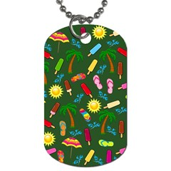 Beach Pattern Dog Tag (one Side) by Valentinaart