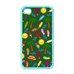 Beach Pattern Apple Iphone 4 Case (color) by Valentinaart