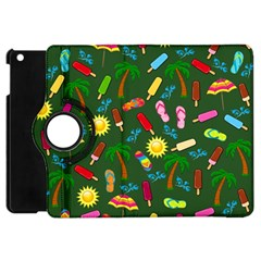 Beach Pattern Apple Ipad Mini Flip 360 Case