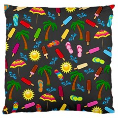 Beach Pattern Large Cushion Case (two Sides)
