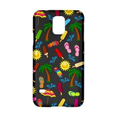 Beach Pattern Samsung Galaxy S5 Hardshell Case  by Valentinaart