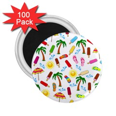 Beach Pattern 2 25  Magnets (100 Pack)  by Valentinaart