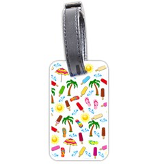Beach Pattern Luggage Tags (two Sides)