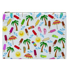 Beach Pattern Cosmetic Bag (xxl)  by Valentinaart