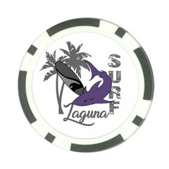 Surf   Laguna Poker Chip Card Guard by Valentinaart