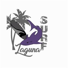 Surf   Laguna Small Garden Flag (two Sides) by Valentinaart