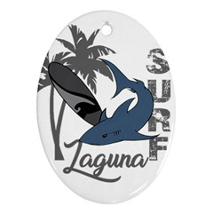 Surf   Laguna Ornament (oval)