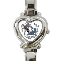 Surf   Laguna Heart Italian Charm Watch by Valentinaart