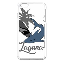 Surf   Laguna Apple Iphone 6 Plus/6s Plus Enamel White Case by Valentinaart