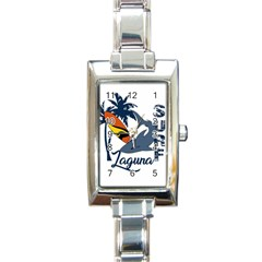 Surf   Laguna Rectangle Italian Charm Watch by Valentinaart