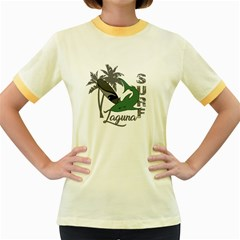 Surf - Laguna Women s Fitted Ringer T-Shirts