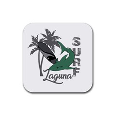 Surf - Laguna Rubber Square Coaster (4 pack)