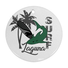 Surf - Laguna Round Ornament (Two Sides)