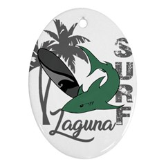 Surf - Laguna Oval Ornament (Two Sides)