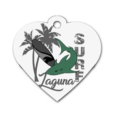 Surf - Laguna Dog Tag Heart (Two Sides)