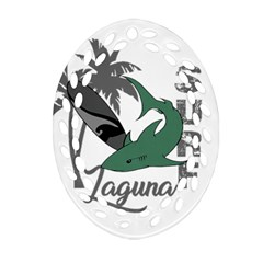 Surf - Laguna Oval Filigree Ornament (Two Sides)