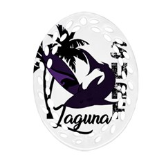 Surf   Laguna Ornament (oval Filigree) by Valentinaart