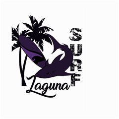 Surf   Laguna Large Garden Flag (two Sides) by Valentinaart