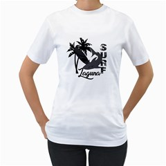 Surf   Laguna Women s T Shirt (white)