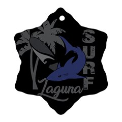Surf   Laguna Snowflake Ornament (two Sides)