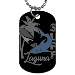 Surf   Laguna Dog Tag (two Sides) by Valentinaart