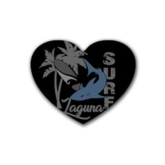 Surf   Laguna Heart Coaster (4 Pack)  by Valentinaart
