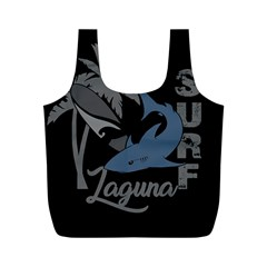 Surf   Laguna Full Print Recycle Bags (m)  by Valentinaart