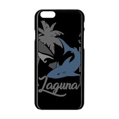 Surf   Laguna Apple Iphone 6/6s Black Enamel Case by Valentinaart