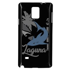 Surf   Laguna Samsung Galaxy Note 4 Case (black) by Valentinaart