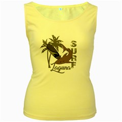 Surf   Laguna Women s Yellow Tank Top