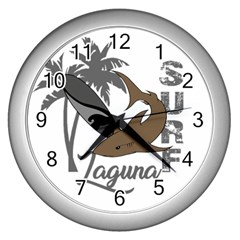 Surf   Laguna Wall Clocks (silver)